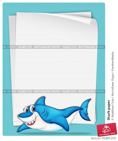 Shark paper. Стоковая иллюстрация, иллюстратор Matthew Cole / PantherMedia / Фотобанк Лори