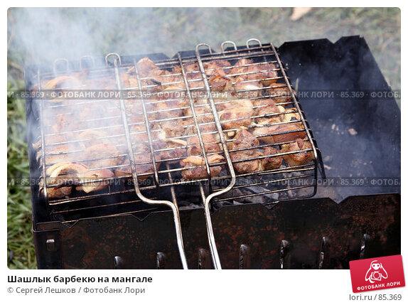 Шашлык барбекю на мангале, фото № 85369, снято 12 мая 2007 г. (c) Сергей Лешков / Фотобанк Лори