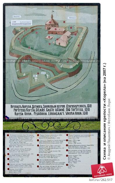Схема  и описание крепости «Корела» (на 2007 г.), фото № 262517, снято 23 июля 2017 г. (c) Андрей Пашкевич / Фотобанк Лори