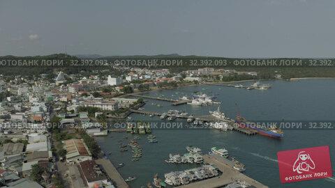 Купить «Ships and Fishing Boats in Vietham harbor Sea port», видеоролик № 32392093, снято 5 ноября 2019 г. (c) Aleksejs Bergmanis / Фотобанк Лори