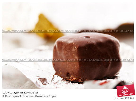 Шоколадная конфета, фото № 257169, снято 15 сентября 2005 г. (c) Кравецкий Геннадий / Фотобанк Лори
