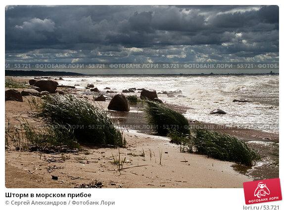 Шторм в морском прибое, фото № 53721, снято 15 июня 2007 г. (c) Сергей Александров / Фотобанк Лори