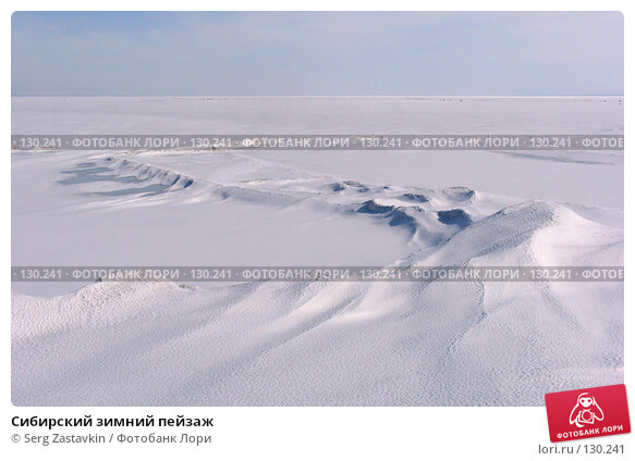 Сибирский зимний пейзаж, фото № 130241, снято 8 апреля 2006 г. (c) Serg Zastavkin / Фотобанк Лори