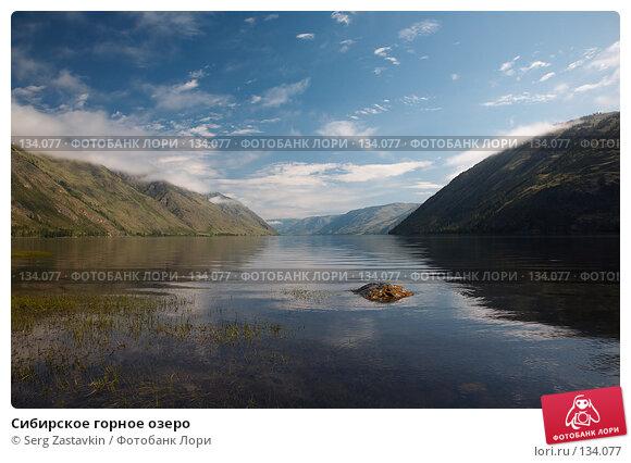 Купить «Сибирское горное озеро», фото № 134077, снято 2 июля 2006 г. (c) Serg Zastavkin / Фотобанк Лори