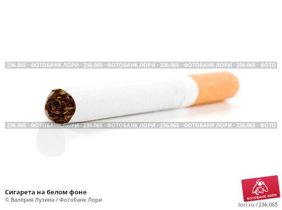 Сигарета на белом фоне, фото № 236065, снято 24 марта 2008 г. (c) Валерия Потапова / Фотобанк Лори
