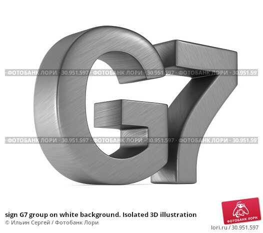 Купить «sign G7 group on white background. Isolated 3D illustration», иллюстрация № 30951597 (c) Ильин Сергей / Фотобанк Лори