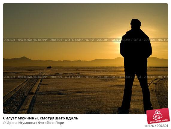Силуэт мужчины, смотрящего вдаль, фото № 200301, снято 28 февраля 2007 г. (c) Ирина Игумнова / Фотобанк Лори