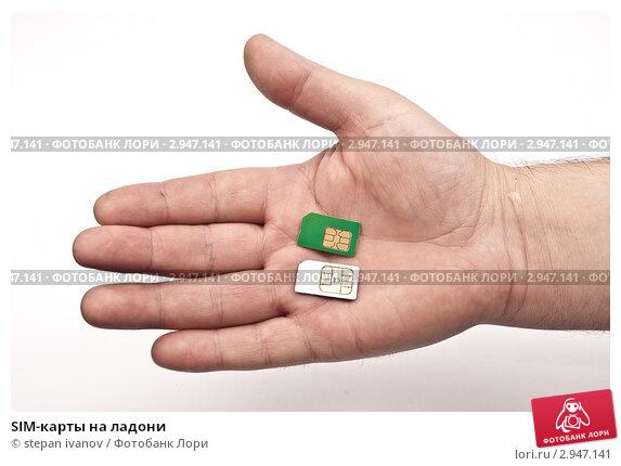 Купить «SIM-карты на ладони», фото № 2947141, снято 1 декабря 2010 г. (c) stepan ivanov / Фотобанк Лори