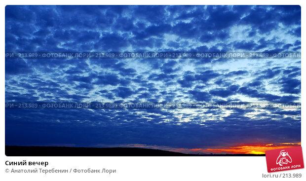Синий вечер, фото № 213989, снято 28 июля 2007 г. (c) Анатолий Теребенин / Фотобанк Лори