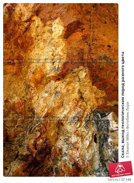 Скала, выход геологических пород разного цвета, фото № 37149, снято 24 мая 2007 г. (c) Eleanor Wilks / Фотобанк Лори