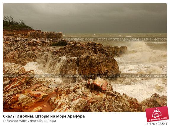 Купить «Скалы и волны. Шторм на море Арафура», фото № 22541, снято 1 апреля 2007 г. (c) Eleanor Wilks / Фотобанк Лори