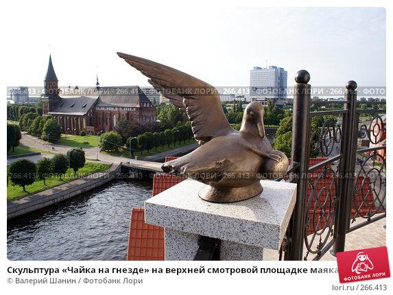Скульптура «Чайка на гнезде» на верхней смотровой площадке маяка. Калининград, фото № 266413, снято 21 июля 2007 г. (c) Валерий Шанин / Фотобанк Лори
