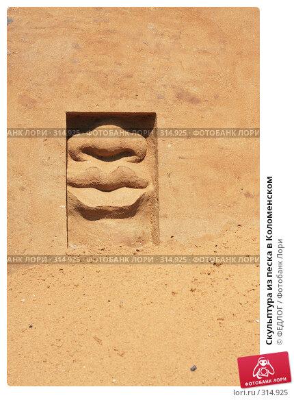 Купить «Скульптура из песка в Коломенском», фото № 314925, снято 8 июня 2008 г. (c) ФЕДЛОГ.РФ / Фотобанк Лори