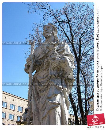 Скульптура во дворе Римско-католического Кафедрального собора. Москва, фото № 52525, снято 16 января 2017 г. (c) Маргарита Лир / Фотобанк Лори