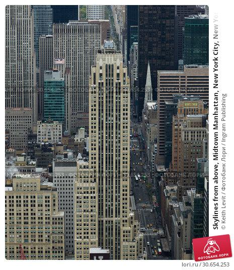 Купить «Skylines from above, Midtown Manhattan, New York City, New York State, USA», фото № 30654253, снято 21 января 2020 г. (c) Ingram Publishing / Фотобанк Лори