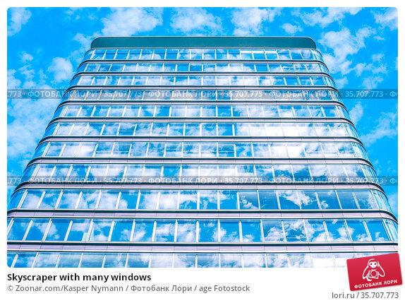 Skyscraper with many windows. Стоковое фото, фотограф Zoonar.com/Kasper Nymann / age Fotostock / Фотобанк Лори