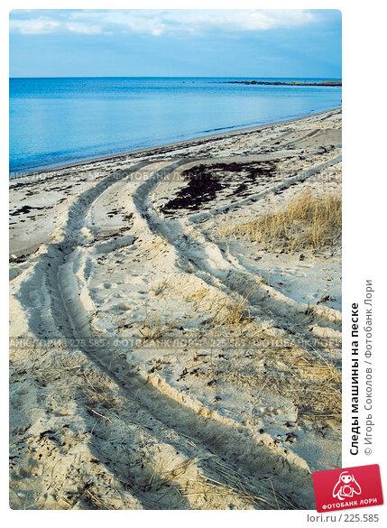 Следы машины на песке, фото № 225585, снято 11 марта 2008 г. (c) Игорь Соколов / Фотобанк Лори
