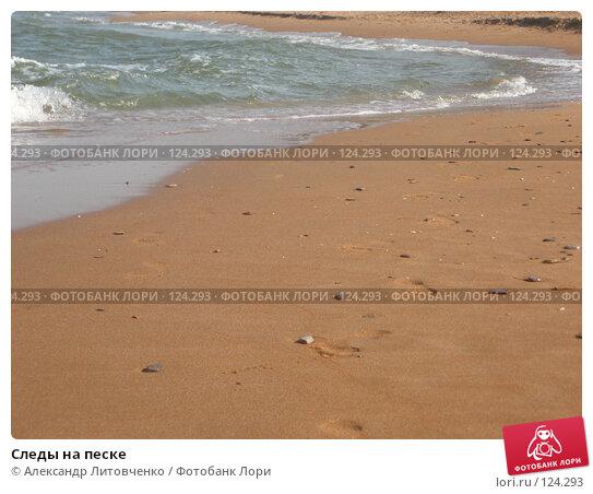 Следы на песке, фото № 124293, снято 6 сентября 2007 г. (c) Александр Литовченко / Фотобанк Лори
