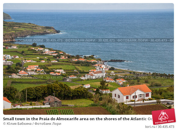 Купить «Small town in the Praia do Almoxarife area on the shores of the Atlantic Ocean, Faial Island, Azores», фото № 30435473, снято 4 мая 2012 г. (c) Юлия Бабкина / Фотобанк Лори