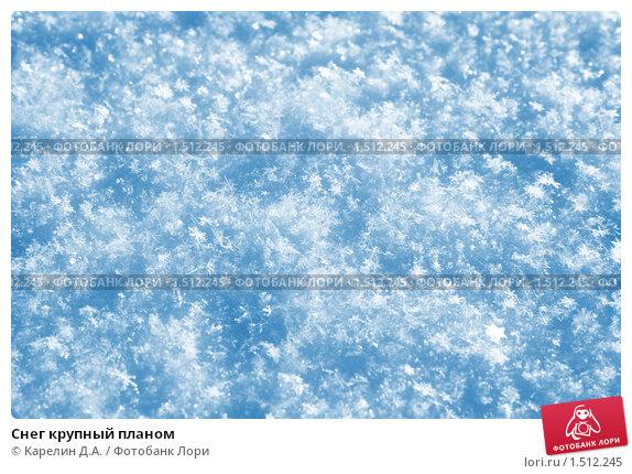 Купить «Снег крупный планом», иллюстрация № 1512245 (c) Карелин Д.А. / Фотобанк Лори