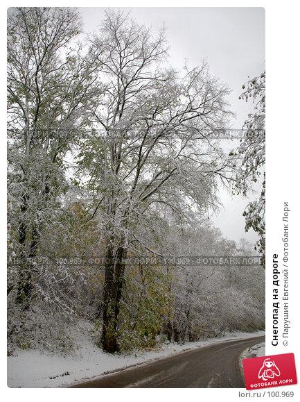 Снегопад на дороге, фото № 100969, снято 28 марта 2017 г. (c) Парушин Евгений / Фотобанк Лори