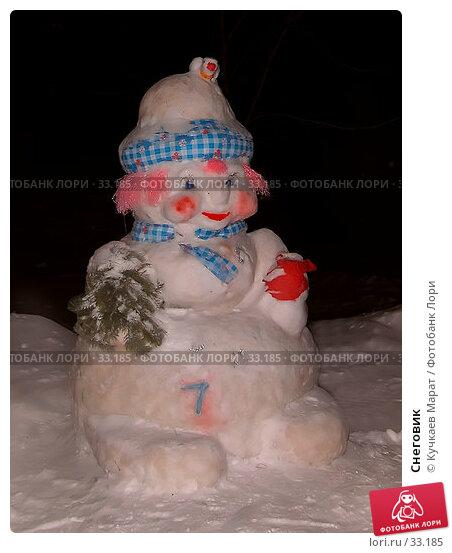 Снеговик, фото № 33185, снято 7 января 2006 г. (c) Кучкаев Марат / Фотобанк Лори