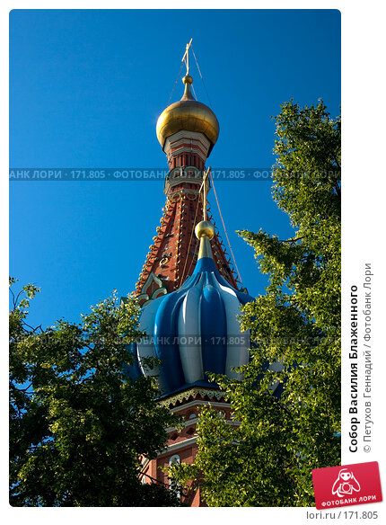 Собор Василия Блаженного, фото № 171805, снято 23 июня 2007 г. (c) Петухов Геннадий / Фотобанк Лори