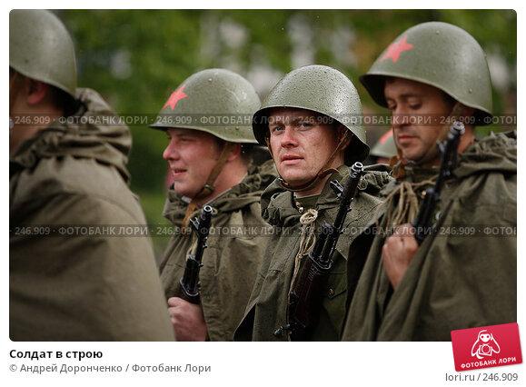 Солдат в строю, фото № 246909, снято 25 июня 2017 г. (c) Андрей Доронченко / Фотобанк Лори