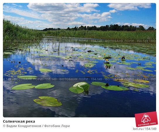 Солнечная река, фото № 154149, снято 26 мая 2017 г. (c) Вадим Кондратенков / Фотобанк Лори