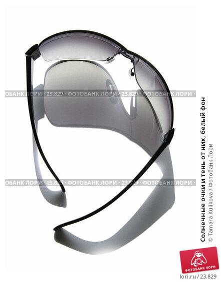 Купить «Солнечные очки и тень от них, белый фон», фото № 23829, снято 15 марта 2007 г. (c) Tamara Kulikova / Фотобанк Лори
