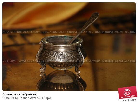 Купить «Солонка серебряная», фото № 91697, снято 2 октября 2007 г. (c) Ксения Крылова / Фотобанк Лори