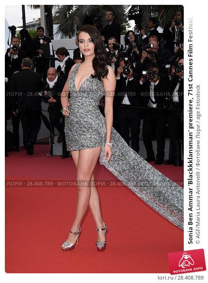 Купить «Sonia Ben Ammar 'Blackkklansman' premiere, 71st Cannes Film Festival, 14 May 2018.», фото № 28408789, снято 14 мая 2018 г. (c) age Fotostock / Фотобанк Лори