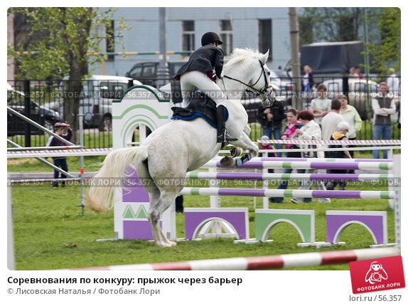 Соревнования по конкуру: прыжок через барьер, фото № 56357, снято 14 мая 2006 г. (c) Лисовская Наталья / Фотобанк Лори