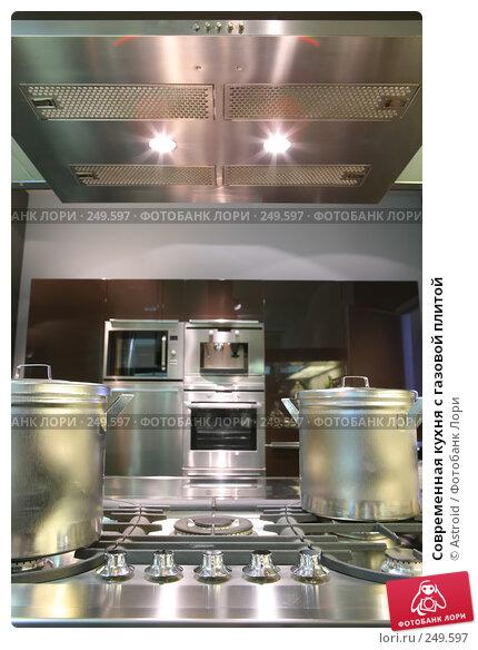 Современная кухня с газовой плитой, фото № 249597, снято 8 апреля 2008 г. (c) Astroid / Фотобанк Лори