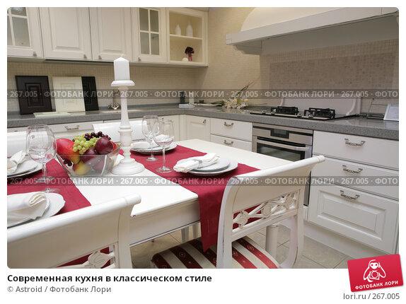 Современная кухня в классическом стиле, фото № 267005, снято 22 апреля 2008 г. (c) Astroid / Фотобанк Лори