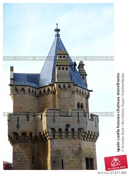 Купить «spain castle houses chateau storefronts», фото № 27811405, снято 18 октября 2018 г. (c) PantherMedia / Фотобанк Лори