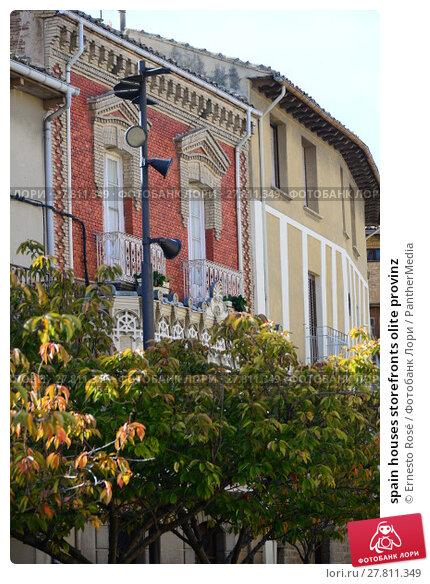 Купить «spain houses storefronts olite provinz», фото № 27811349, снято 19 октября 2018 г. (c) PantherMedia / Фотобанк Лори