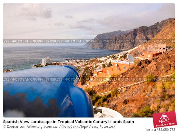 Spanish View Landscape in Tropical Volcanic Canary Islands Spain. Стоковое фото, фотограф Zoonar.com/alberto giacomazzi / easy Fotostock / Фотобанк Лори