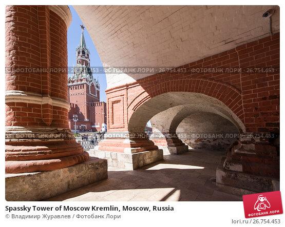 Spassky Tower of Moscow Kremlin, Moscow, Russia, фото № 26754453, снято 6 августа 2017 г. (c) Владимир Журавлев / Фотобанк Лори