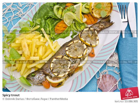 Купить «Spicy trout», фото № 33086905, снято 18 февраля 2020 г. (c) PantherMedia / Фотобанк Лори