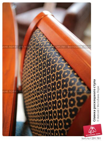 Спинка роскошного стула, фото № 291781, снято 10 апреля 2008 г. (c) Astroid / Фотобанк Лори