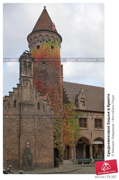 Средневековая башня в Брюгге, фото № 73337, снято 21 января 2017 г. (c) Михаил Лавренов / Фотобанк Лори