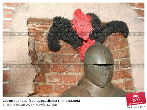 Средневековый рыцарь. Шлем с плюмажем, эксклюзивное фото № 7837, снято 28 января 2006 г. (c) Ирина Терентьева / Фотобанк Лори