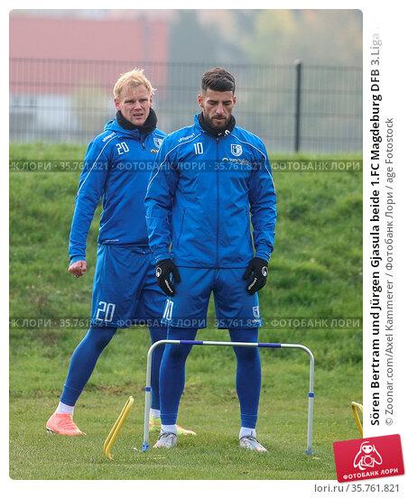 Sören Bertram und Jürgen Gjasula beide 1.FC Magdeburg DFB 3.Liga ... Стоковое фото, фотограф Zoonar.com/Axel Kammerer / age Fotostock / Фотобанк Лори