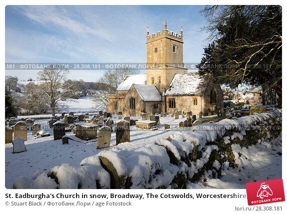 Купить «St. Eadburgha's Church in snow, Broadway, The Cotswolds, Worcestershire, England, United Kingdom, Europe», фото № 28308181, снято 12 декабря 2017 г. (c) age Fotostock / Фотобанк Лори