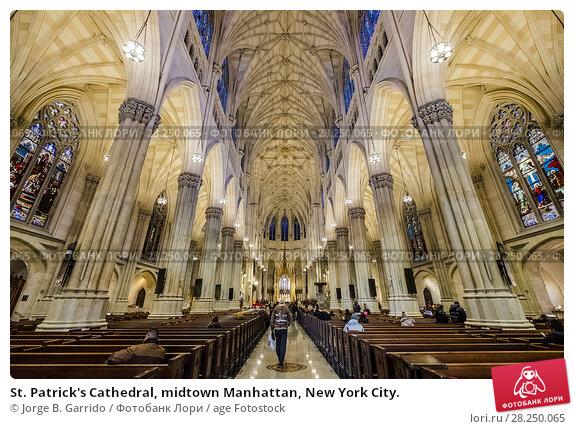 Купить «St. Patrick's Cathedral, midtown Manhattan, New York City.», фото № 28250065, снято 8 февраля 2018 г. (c) age Fotostock / Фотобанк Лори