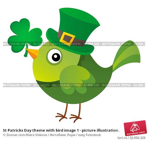 St Patricks Day theme with bird image 1 - picture illustration. Стоковое фото, фотограф Zoonar.com/Klara Viskova / easy Fotostock / Фотобанк Лори