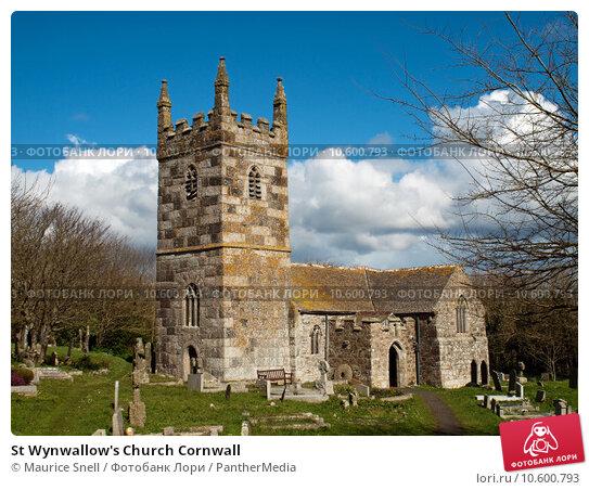 St Wynwallow's Church Cornwall. Стоковое фото, фотограф Maurice Snell / PantherMedia / Фотобанк Лори