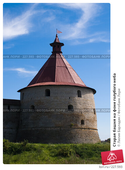 Купить «Старая башня на фоне голубого неба», фото № 227593, снято 5 августа 2007 г. (c) Лилия Барладян / Фотобанк Лори