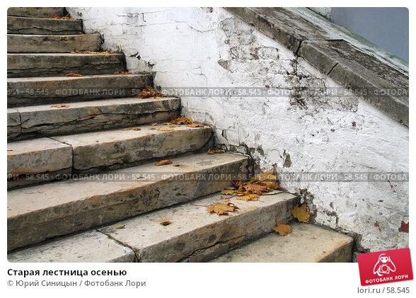 Старая лестница осенью, фото № 58545, снято 16 октября 2004 г. (c) Юрий Синицын / Фотобанк Лори